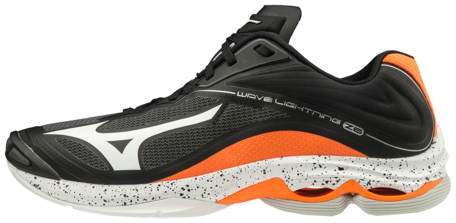 Mizuno wave Lightning z6 | Black/Orange