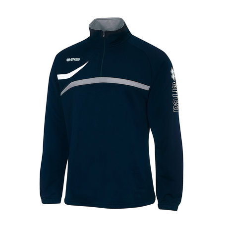Errea sportsweater met korte rits | navyblauw