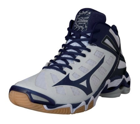 Mizuno wave Lightning RX3 MID Wit/navy