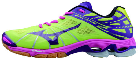 Mizuno wave lightning Z | Lime/Roze | Dames