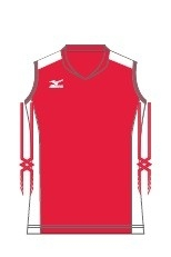 Mizuno dames/meisjes trainingshirt rood/wit