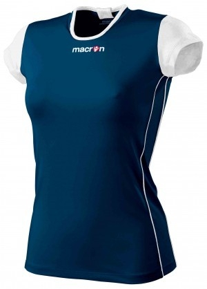 Macron dames/meisjes trainingshirt  navy/wit