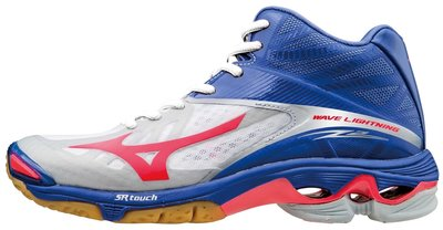 Mizuno wave lightning z2 mid | Dames | wit/roze