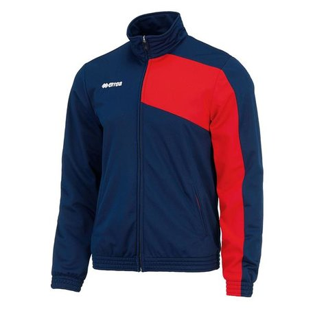 Milton trainingsjack navy-rood maat XL