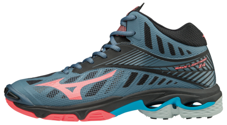 WAVE Lightning Z4 MID |dames |Blue Mirage/Fiery Coral/Black