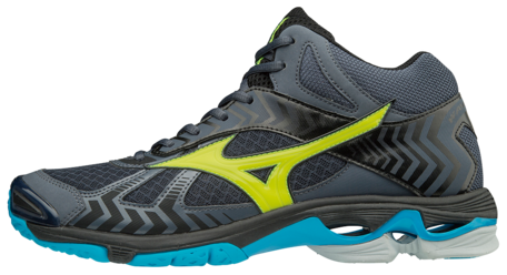 Mizuno wave Bolt 7 MID | Ombre Blue/Safety Yellow/Black