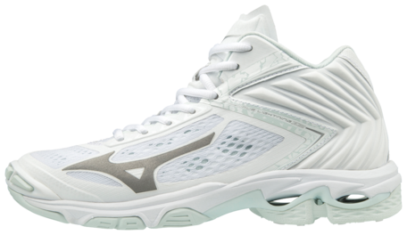 Mizuno wave Lightning Z5 MID hoog | dames | wit