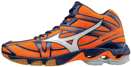 Mizuno wave Bolt 6 MID oranje navy