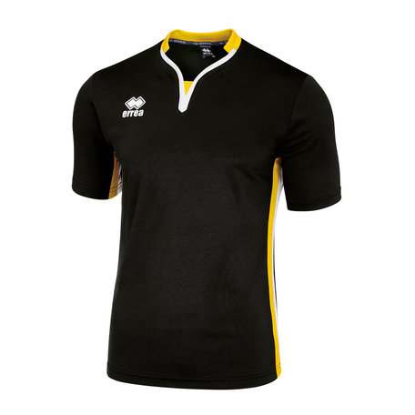 Errea Eiger shirt | Black/yellow/white
