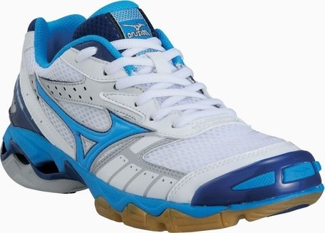 Mizuno wave Bolt dames/meisjes wit/blauw